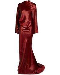 Rick Owens - Satin Draped Gown - Lyst