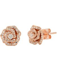 Kenza Lee - Camelia Stud Earrings - Lyst