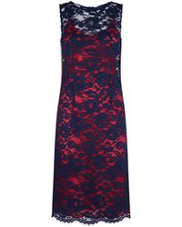 Pinko - Guipure Lace Overlay Pencil Dress - Lyst