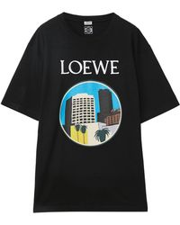 Loewe L.a. Series Printed T-shirt - Black