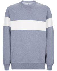 Brunello Cucinelli - Contrast Stripe Sweatshirt - Lyst