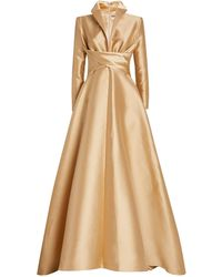 Alexis Mabille Wrap-waist Gown - Natural