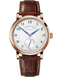 A. Lange & Sohne Rose Gold 1815 Watch 38.5mm - Metallic