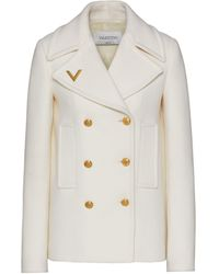 Valentino Double-breasted Wool Jacket - White
