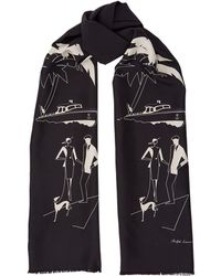 Ralph Lauren - Dog Print Scarf - Lyst
