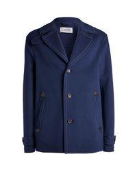 Lanvin Wool-cashmere Pea Coat - Blue