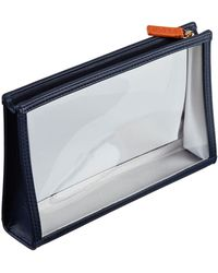 Stow - See-view Leather Essentials Pouch - Lyst