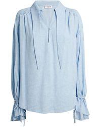 Claudie Pierlot Tie-detail Blouse - Blue
