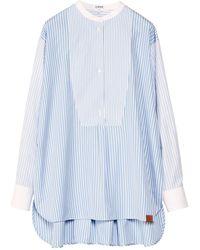 Loewe Cotton Striped Tunic Top - White