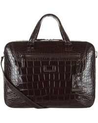 Tumi - Marina Alligator Briefcase - Lyst