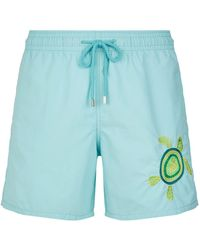 Vilebrequin - Motu Embroidered Turtle Swim Shorts - Lyst