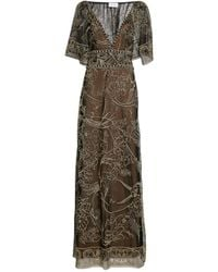 Marchesa - Embellished Sleeveless Gown - Lyst