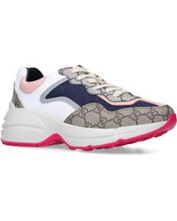 Gucci Rhyton Gg Supreme Sneakers - Blue