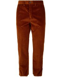 Moncler - Tapered Cord Trousers - Lyst