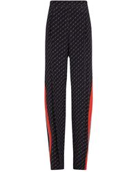 Stella McCartney Monogram Print Side Stripe Pants - Black