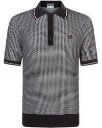 Fred Perry - Tipped Houndstooth Polo - Lyst