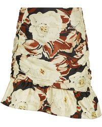 Sir. The Label Floral Vivienne Mini Skirt - Natural