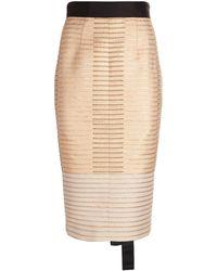 Amanda Wakeley - Metallic Jacquard Pencil Skirt - Lyst