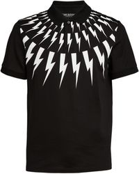 Neil Barrett - Thunderbolt Polo Shirt - Lyst