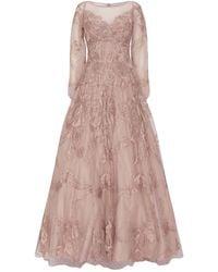 Jovani Embellished Long-sleeved Gown - Pink
