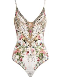 Camilla Starcrossed Lovers Print Swimsuit - White