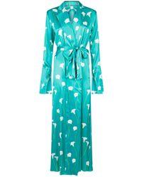 Caroline Constas - Floral Long Robe - Lyst