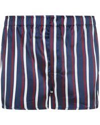 Derek Rose - Graphic Print Silk Boxer Shorts - Lyst