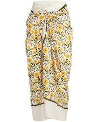 Agua by Agua Bendita Cotton-silk Lavanda Sarong - Yellow