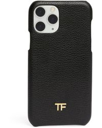 Tom Ford Leather Iphone 11 Case - Black