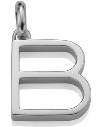 Monica Vinader - Sterling Silver Capital B Pendant - Lyst