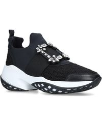Roger Vivier Viv Run Sneakers - Black
