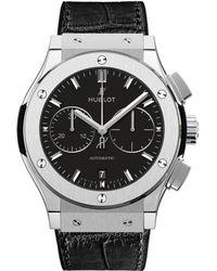Hublot Classic Fusion 45mm Chronograph Titanium Watch - Black