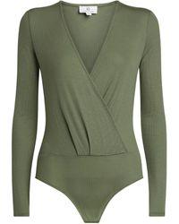 AG Jeans Lola V-neck Bodysuit - Green
