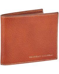 Brunello Cucinelli - Leather Bifold Wallet - Lyst