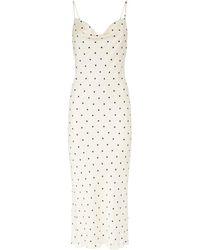 Shona Joy O'dell Polka Dot Midi Dress - White