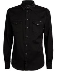 Dolce & Gabbana Western Denim Shirt - Black