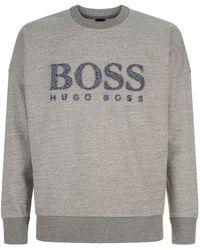 BOSS Orange - Textured Logo Sweatshirt - Lyst