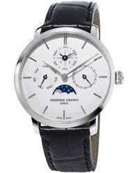 Frederique Constant - Slimline Perpetual Calendar Watch - Lyst