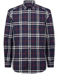 Burberry - Vintage Check Cotton Poplin Shirt - Lyst