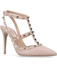 Valentino Garavani Rockstud Leather Court Shoes - Multicolour