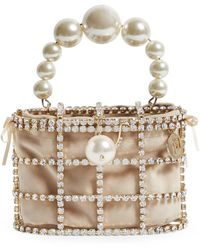 Rosantica Embellished Holli Top-handle Bag - Metallic