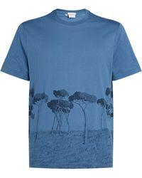 Brioni Tree Print T-shirt - Blue