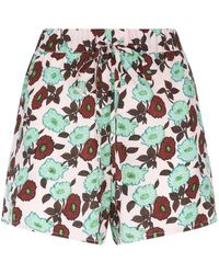 Sandro - Floral Shorts - Lyst