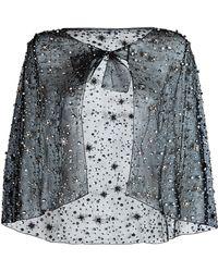 Jenny Packham - Embellished Tulle Cape - Lyst