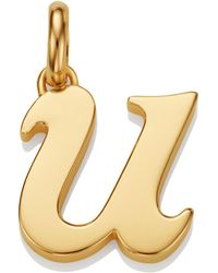 Monica Vinader - Gold Lower Case U Pendant - Lyst