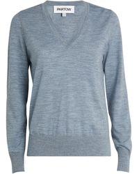 Partow Wool Franca Sweater - Gray