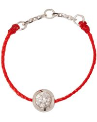 RedLine White Gold And Diamond Pure String Ring