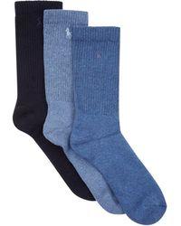 Polo Ralph Lauren - Crew Socks (3 Pack) - Lyst