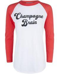 Wildfox - Champagne Brain T-shirt - Lyst