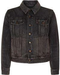 Saint Laurent - Embroidered Appliqu Denim Jacket - Lyst